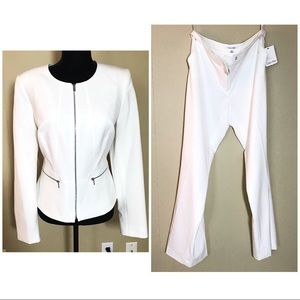 NEW Calvin Klein white pants and blazer suit